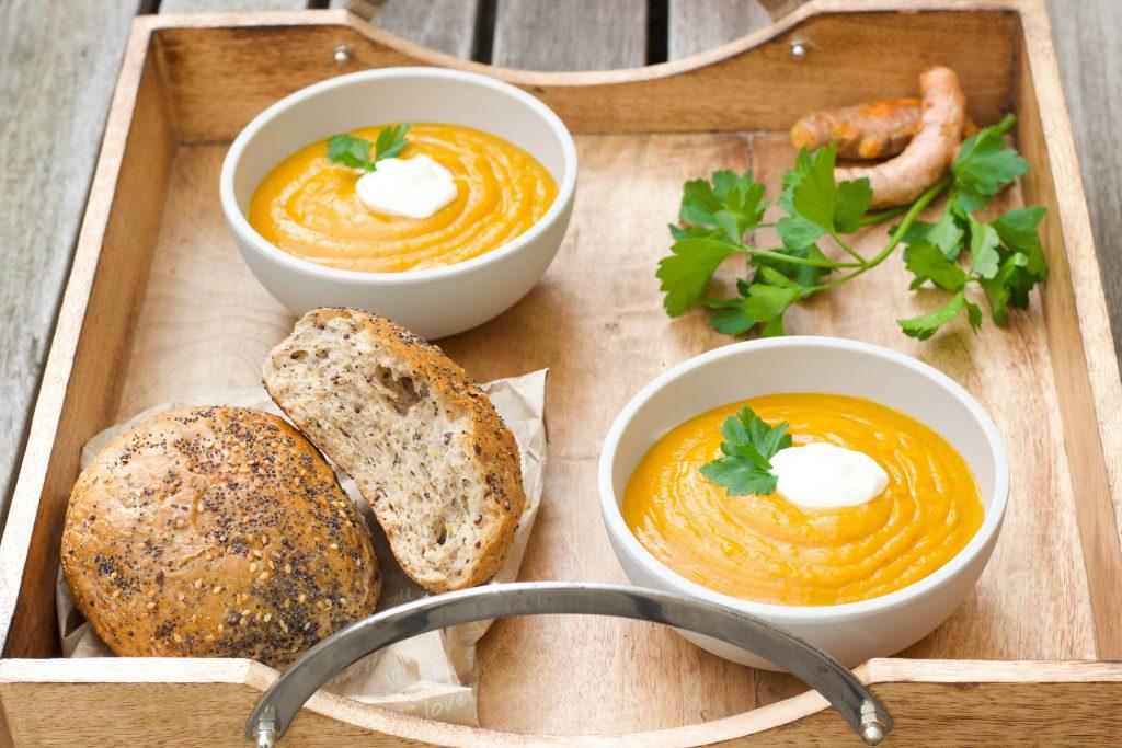 pumpkin turmeric and ginger soup