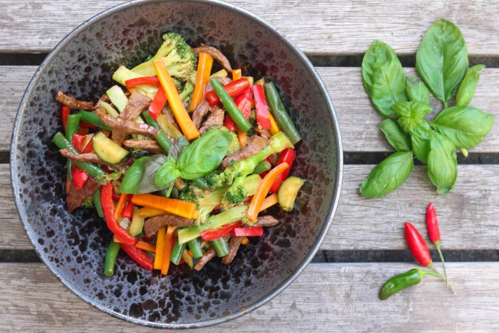 beef basil stir-fry