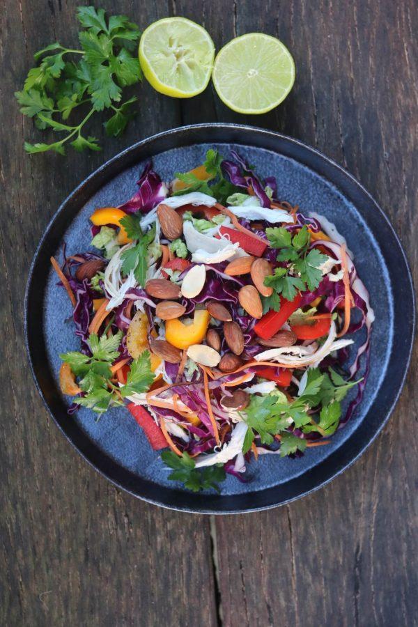 chicken coleslaw salad