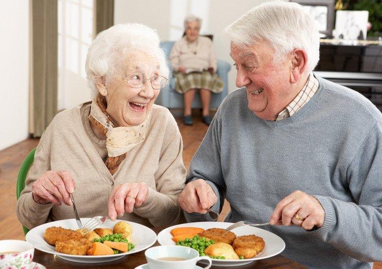 elderly dinner